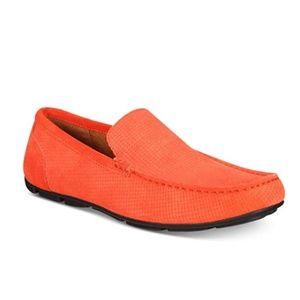Alfani Mens Kendric Textured Drivers Orange 10M
